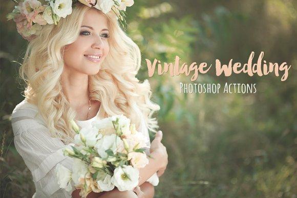 Vintage Wedding Photo Actions