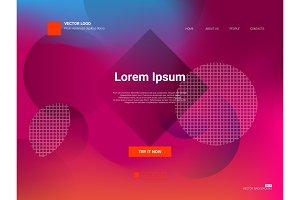 Responsive landing page web template