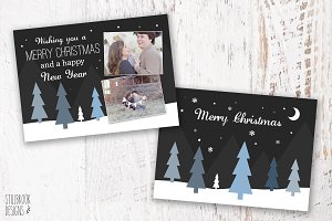 Christmas Card Photography Template