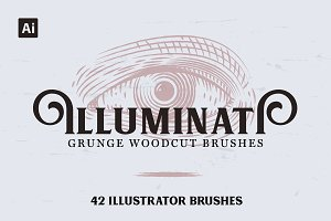 Illuminati Vintage Woodcut Brushes