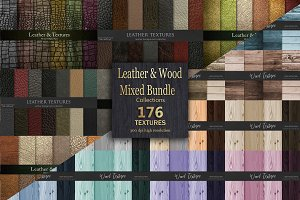 Leather and Wood Bundles Textures