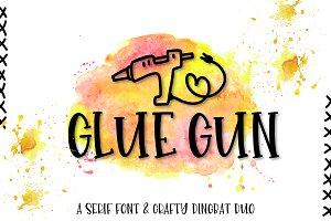Glue Gun - A Font & Dingbat Duo