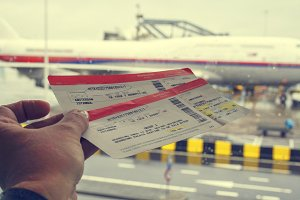 Tickets and airplane