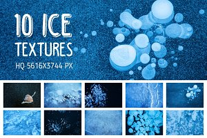 Winter Ice Textures Set