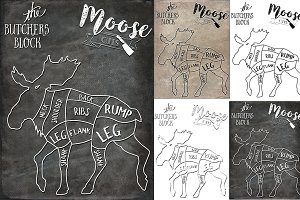 Moose Butcher Cuts Set 1