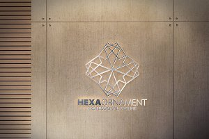 Hexagon Ornament Logo