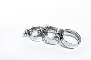 New metal hose clamps with threaded