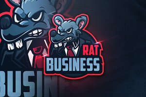 Rat Business -  Mascot & Esport Logo