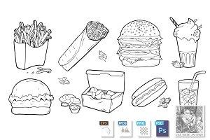 Fast-food food set