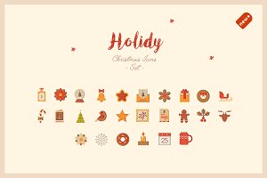 Holidy - Cozy Christmas Icon Set