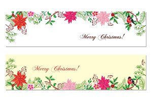 Christmas Banners Set with Christmas