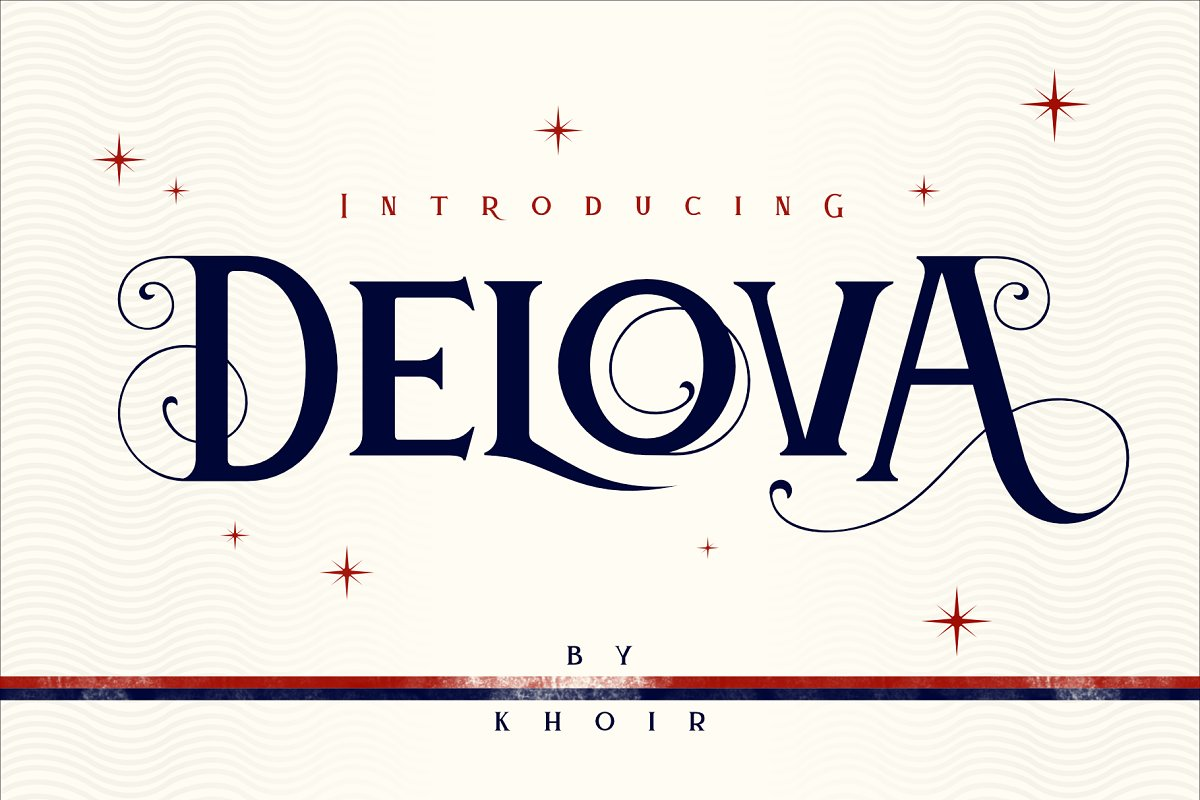 Delova the classic font