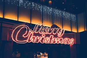 christmas text at department store a