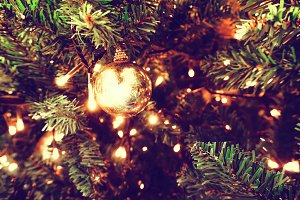 light bulb on christmas tree