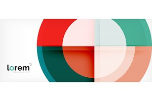Multicolored round shapes abstract