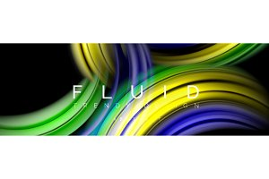 Background abstract design, flowing