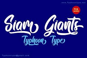 Siam Giants font