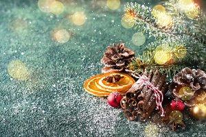Christmas natural holiday compositio