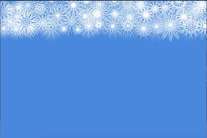 Snowflakes pattern on blue