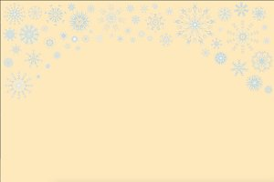 Gentle snowflakes ornament