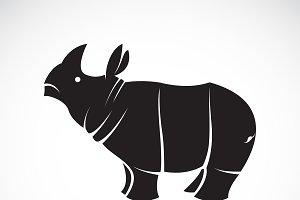 Vector of rhinoceros. Wild Animals.