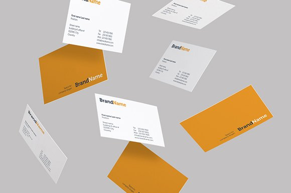 Free Business cards Mock-Ups + Templates