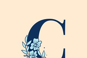 Botanical Alphabet capital letter