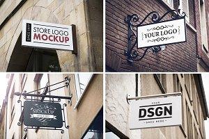 4 shop sign design templates