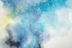 Watercolor abstract painting. Water