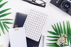 Styled design office workspace desk