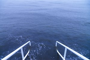 Steps into the Blue Sea