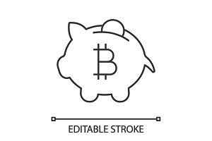 Bitcoin deposit linear icon