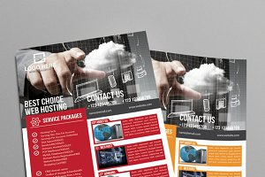 Web Hosting Business Flyer
