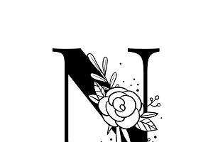 Botanical Alphabet capital letter