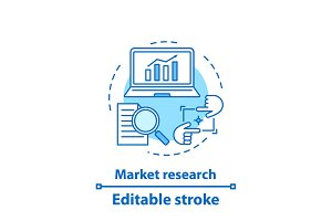 Market research concept icon