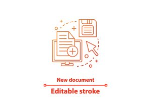 New document concept icon