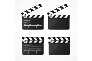 Realistic 3d Detailed Black Clapper