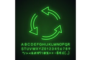 Air conditioning neon light icon