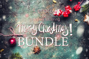 Christmas bakery backgrounds BUNDLE