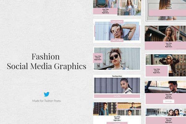 Twitter Templates: Social Corner Graphics - Fashion Twitter Posts