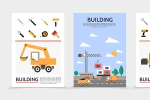 Flat building industry posters