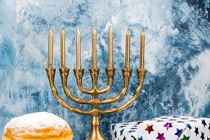 Hanukkah festive background