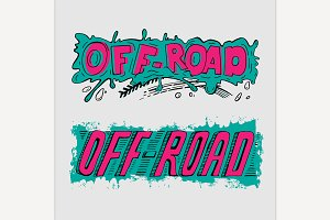 Off Road Hand Drawn Lettering