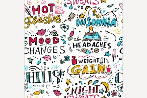 Menopause Seamless Pattern