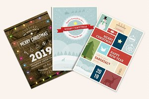 Cute Christmas Cards Bundle 01