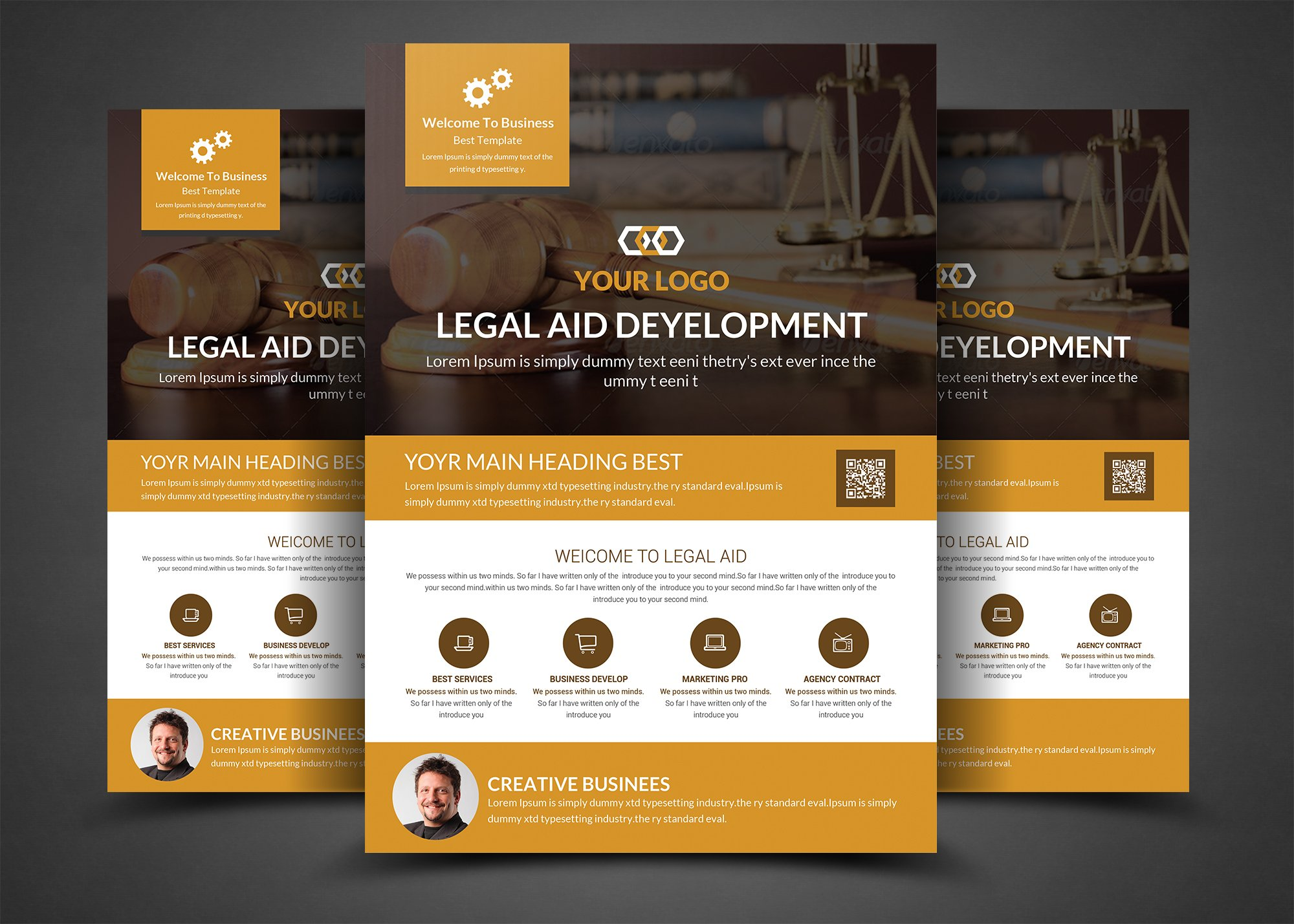 lawyer firm business flyer template flyer templates creative market