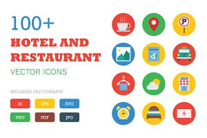 100+ Flat Hotel and Restaurant Icons