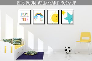 Kids Room Wall/ Frame Mock-up
