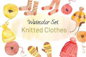 Watercolor Set Knitted Clothes