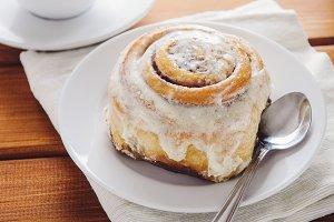 Hot cinnamon bun